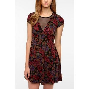Urban Outfitters Floral Mesh Dress